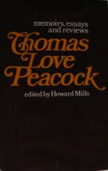 Thomas Love Peacock Memoirs etc